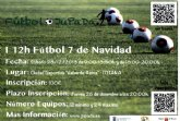 Hoy finaliza el plazo para inscribirse en el I Torneo de Navidad de Fútbol-7