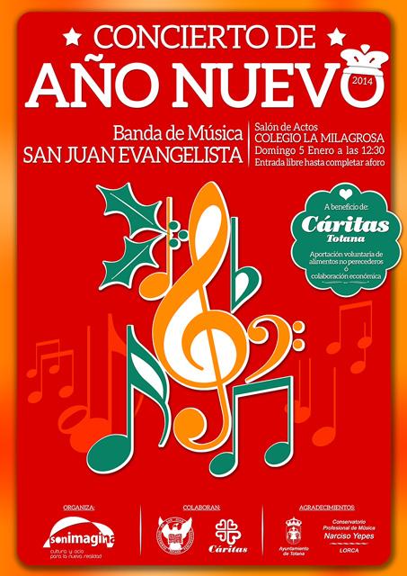 Concierto de Año Nuevo a cargo de la Banda de Música de San Juan Evangelista, Foto 2