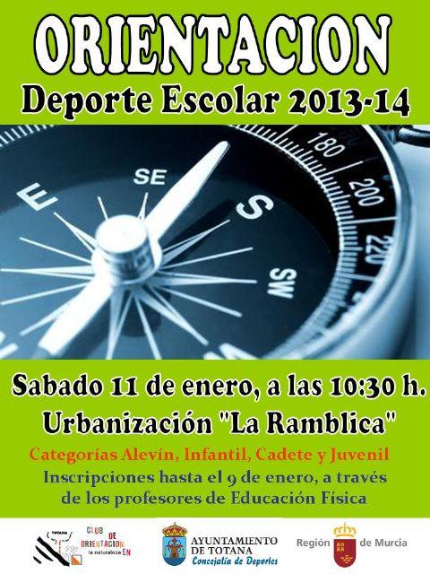La concejalía de Deportes organiza la fase local de orientación Deporte Escolar este sábado 11 de enero en la urbanización La Ramblica, Foto 1