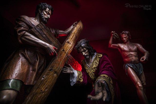 La cofradía del Stmo. Cristo de La Caída y Elevación de la Cruz presentará la nueva ubicación de sus imágenes titulares en su sede, Foto 1