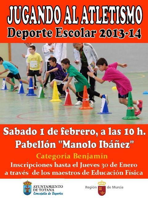 La concejalía de Deportes organiza la fase local de jugando al atletismo benjamín de Deporte Escolar