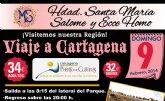 """La Hermandad de Santa María Salomé y Ecce Homo realizará un viaje a Cartagena """"Puerto de Culturas"""""""