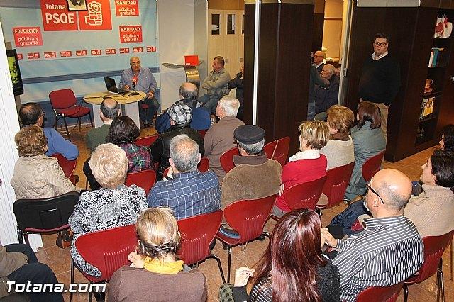 Conferencia sobre Los orígenes de la organización socialista en Totana, Foto 1