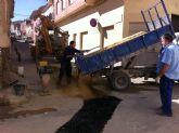 El Servicio Municipal de Aguas realiza varias obras de mejora de las redes de saneamiento y abastecimiento de agua potable del municipio