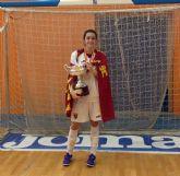 María Guirao campeona de España con la selección murciana de fútbol sala