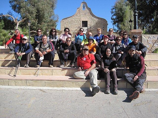 Una veintena de senderistas participaron en la ruta organizada por Deportes en Sierra Espuña por el término municipal de Pliego