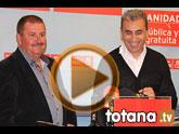 Rueda de prensa en Totana del candidato a las primarias del PSRM-PSOE Roberto García