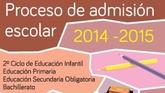 Educaci�n abre hoy el plazo de admisi�n de alumnos para el curso 2014-2015