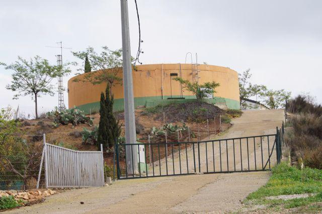 El Servicio Municipal de Aguas procederá mañana a la limpieza del depósito de agua en El Paretón-Cantareros