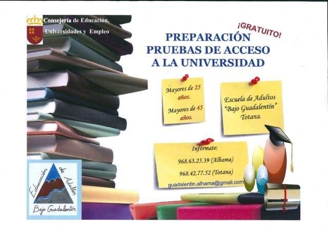 Quedan plazas libres para las pruebas de acceso a la Universidad para mayores de 25 años y 45 años, Foto 1
