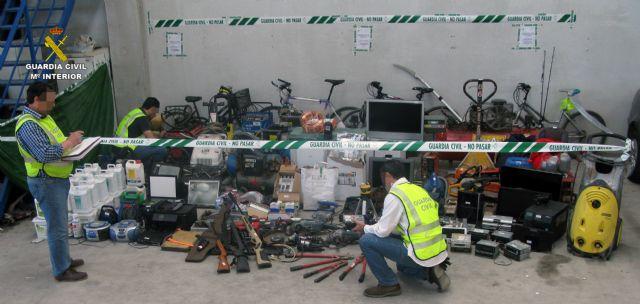 La Guardia Civil recupera 200 efectos sustraídos en viviendas y naves industriales de la Región, Foto 2
