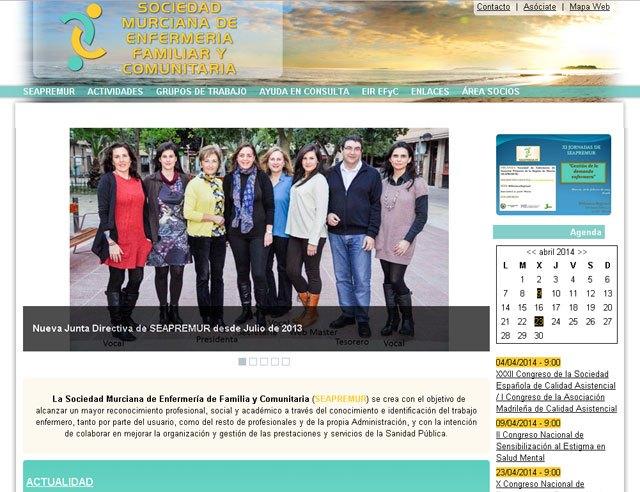 La Sociedad Murciana de Enfermería de Familia y Comunitaria (SEAPREMUR) renueva su web, Foto 1
