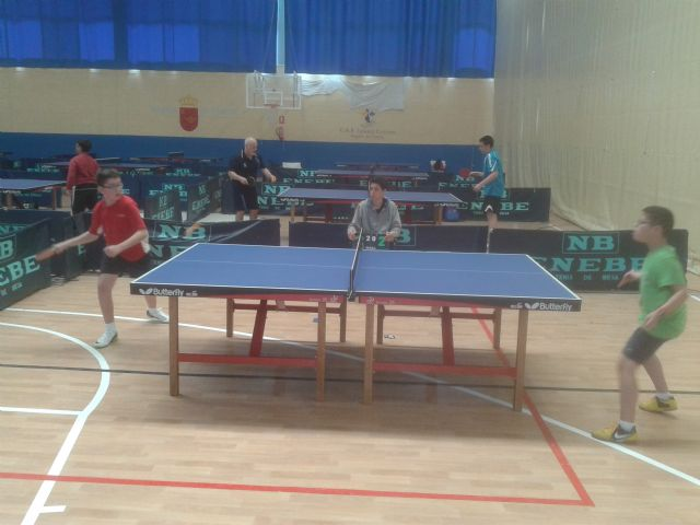 Tenis de mesa. Club Totana TM. Resultados fin de semana. II Open Autonómico, Foto 1