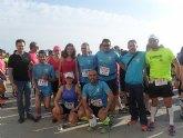 Un número grupo de atletas del Club de atletismo de Totana participaron en la II Media maratón nocturna de Aguilas y en los II 10 km de Aguilas