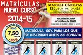 La Escuela de Danza Manoli Cánovas abre el plazo de matrícula para el curso 2014-2015