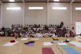 Mazarrón se apunta al yoga con una jornada regional que atrae a 150 participantes