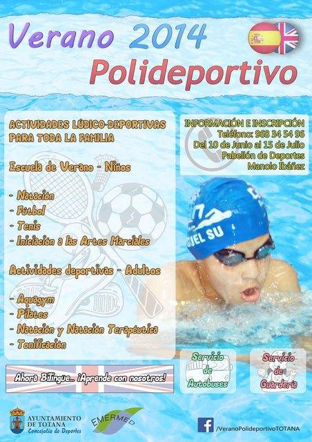"""Se presenta el programa """"Verano Polideportivo´2014"""", que incluye escuela de verano bilingüe y actividades para adultos, Foto 3"""