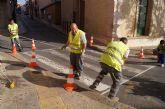 Realizan trabajos de repintado de la señalización horizontal en las principales calles del centro urbano de la ciudad