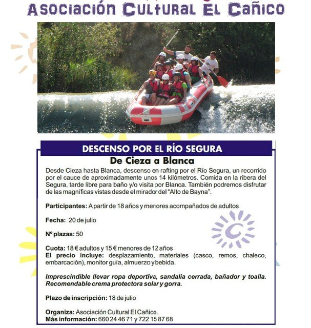 "The Cultural Association ""Canico"" organizes a day to enjoy white-water rafting on the River Segura - 2"