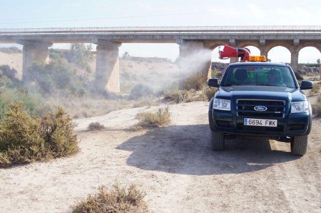 Control de mosquitos en el cauce del río Guadalentín, Foto 3