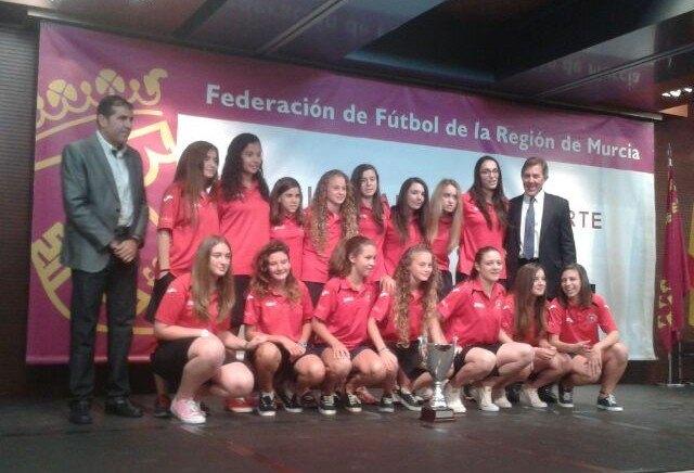 La totanera Macarena González en la Gala fin de temporada de la Federación de Fútbol, Foto 2