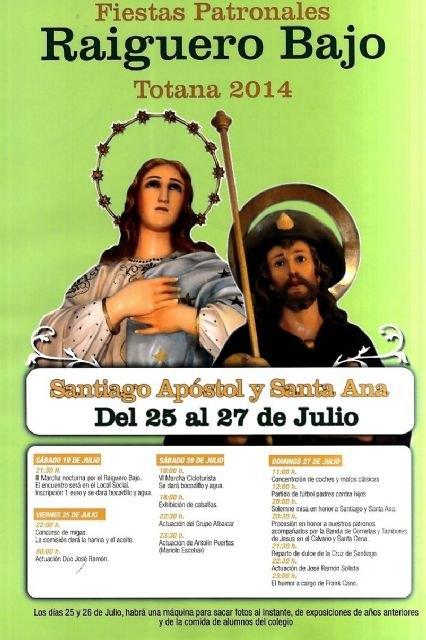 Las fiestas en El Raiguero Bajo se celebran del 25 al 27 de julio, Foto 2