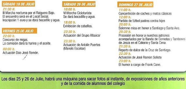 Las fiestas en El Raiguero Bajo se celebran del 25 al 27 de julio, Foto 3