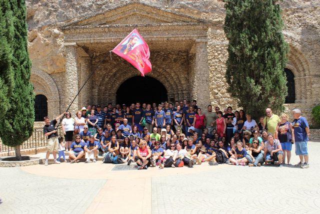 Los jóvenes de Los Barreros se encuentran con Nuestra Señora de la Esperanza después de tres días de camino, Foto 1