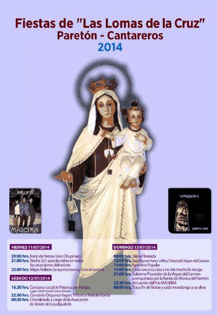 Las fiestas de las Lomas de la Cruz de El Paretón-Cantareros se celebran este fin de semana en honor a la virgen del Carmen, Foto 1