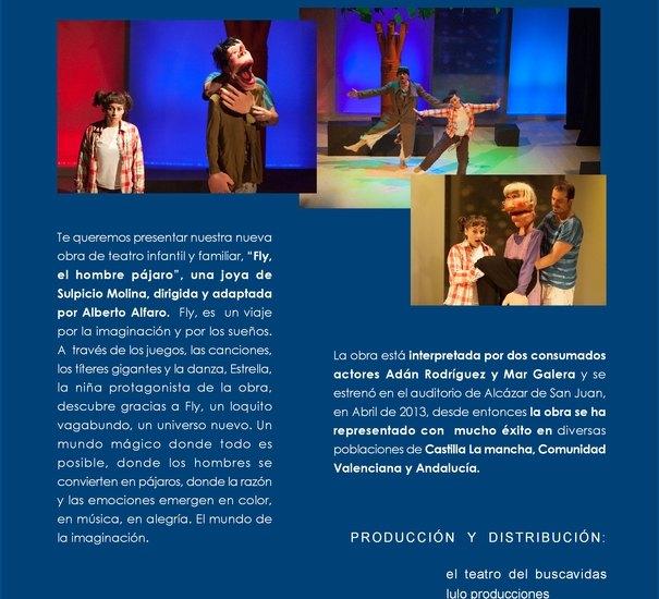 """Esta noche tendrá lugar la representación de la obra de teatro """"Fly, el hombre pájaro"""", Foto 3"""