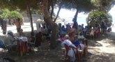 Usuarios de los centros sociales del IMAS disfrutan del verano en el Mar Menor