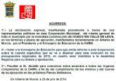 Pleno extraordinario promovido por el Grupo Municipal Socialista sobre el nuevo Instituto Valle de Leiva