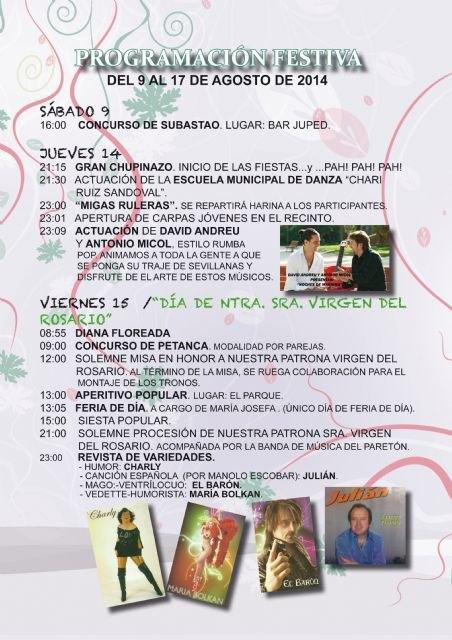 Actuaciones musicales, lúdicas, y deportivas copan el programa de las fiestas de la pedanía de El Paretón-Cantareros, Foto 2