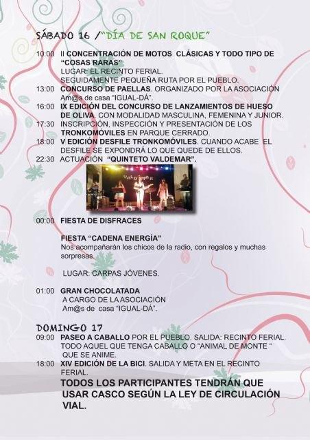 Actuaciones musicales, lúdicas, y deportivas copan el programa de las fiestas de la pedanía de El Paretón-Cantareros, Foto 3