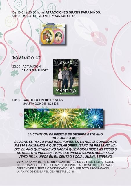 Actuaciones musicales, lúdicas, y deportivas copan el programa de las fiestas de la pedanía de El Paretón-Cantareros, Foto 4