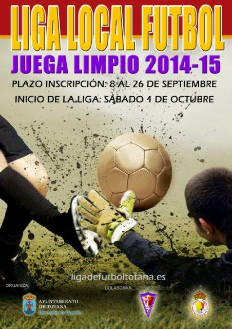 El plazo de inscripción para la Liga Local de Fútbol