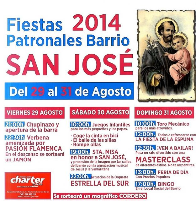 The feast of San José tear Friday August 29 with a packed sports, children's activities and musical program - 1