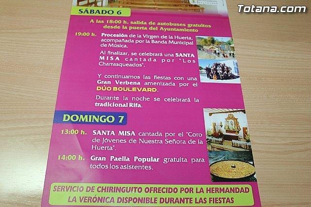 La alcaldesa pedánea de La Huerta invita a los vecinos de Totana a participar en los festejos que se celebran este fin de semana, Foto 3