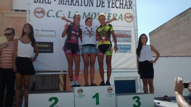 La corredora de la A. D. Peña Las Nueve Subcampeona del Campeonato Regional de Bike Maratón de la Región de Murcia, Foto 1
