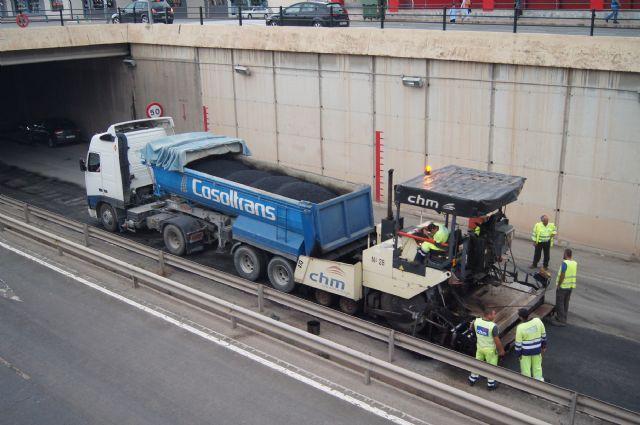 Las obras de arreglo de la N-340 se acometen en la travesía de Totana, en la Avda. Juan Carlos I, durante estos días, Foto 3