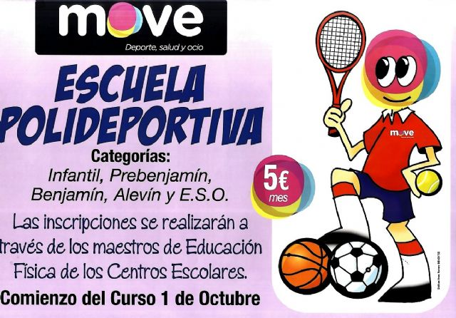 Comienza el programa Escuela Polideportiva 2014/15 con un amplio abanico de modalidades deportivas en los colegios de Totana, Foto 1