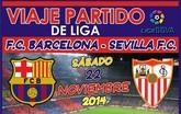 Las Peñas Barcelonistas de Totana, Alhama y Beniel organizan un viaje al partido FC Barcelona - Sevilla