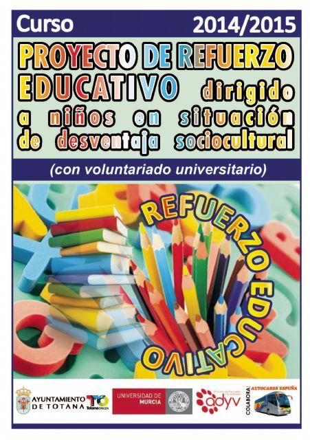 Se abre plazo para la captación de universitarios que quieran participar como voluntarios en el proyecto de refuerzo educativo en el curso académico 2014/15, Foto 1