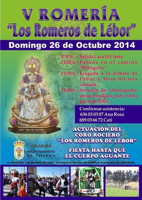 La V Romería Los Romeros de Lebor se traslada al domingo 26 de octubre, Foto 2