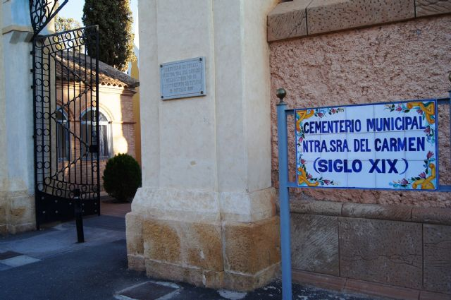 A partir del día 24 de octubre deben cesar las obras en el cementerio municipal por motivo de la festividad de Todos los Santos, Foto 1