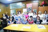 Autoridades municipales inauguran el curso 2014/15 de la Asociación de Amas de Casa de las Tres Avemarías de Totana