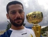 Bartolomé Sánchez, del Club Atletismo Totana, ganador de I Media maratón Huerta de Murcia