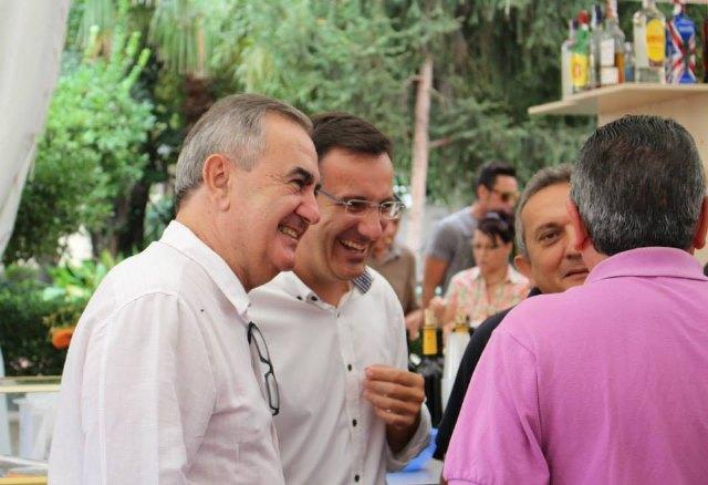 El Secretario General del PSOE en la Región de Murcia, Rafael González Tovar, visita un año más la Feria de Alhama, Foto 1