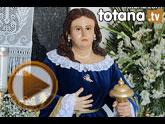 Bendición de la imagen de Santa María Magdalena, realizada por el totanero Francisco Carrillo Periago