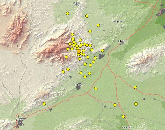 Protección Civil informa de que en los últimos siete días se han producido un total de 142 pequeños terremotos en la zona del Valle Guadalentín, Foto 1